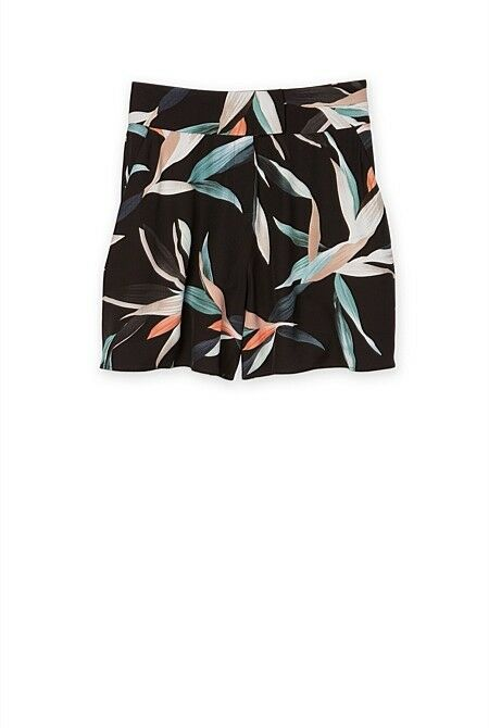 Country road WOMAN TROPICAL PRINT SHORT