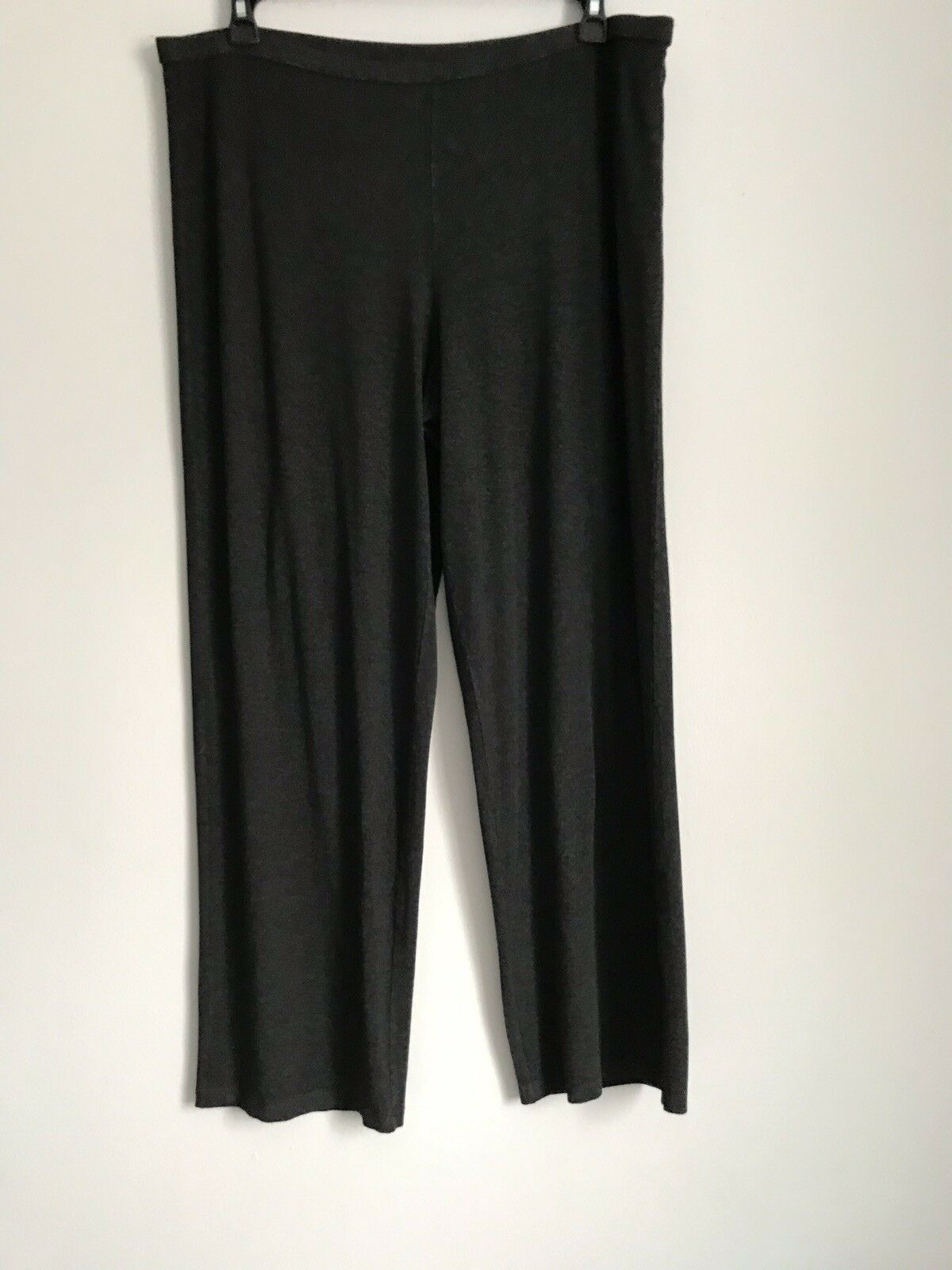EILEEN FISHER ELASTIC WAIST STRETCHY JERSEY PULL-ON SOFT PANTS SZ XL TG