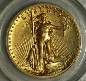 1907 $20 High Relief Saint Guadens PCGS AU50