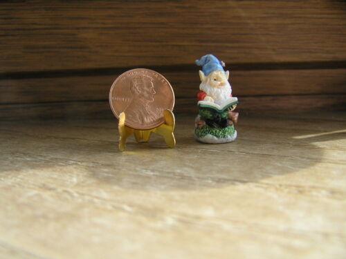 Reading a Book 1:12 or 1:24 Miniature Dollhouse Garden Gnome