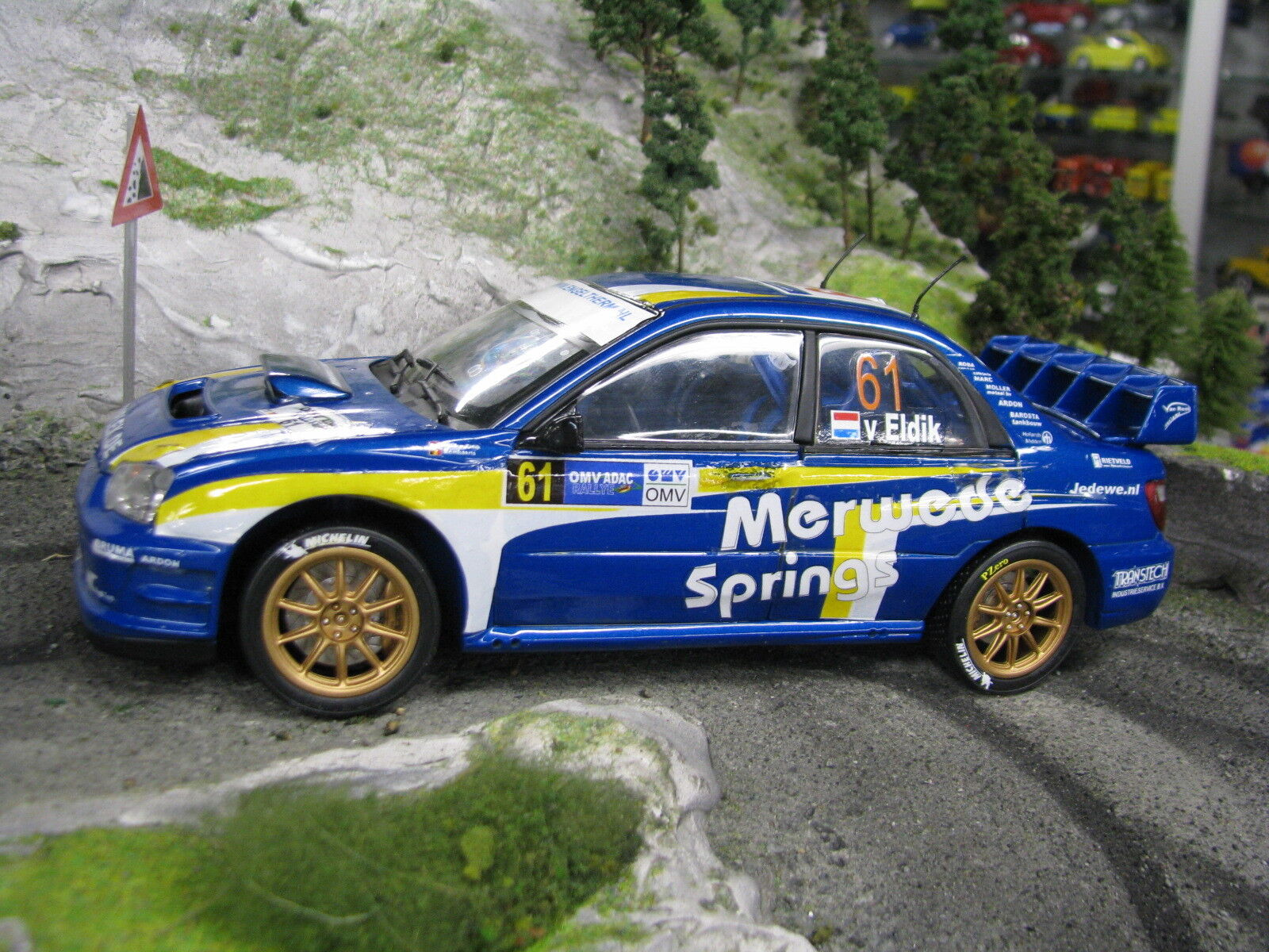 QSP Subaru Impreza S10 WRC WRC WRC '06 1:18 61 van Eldik  Mombaerts Deutschland Rallye c0821f