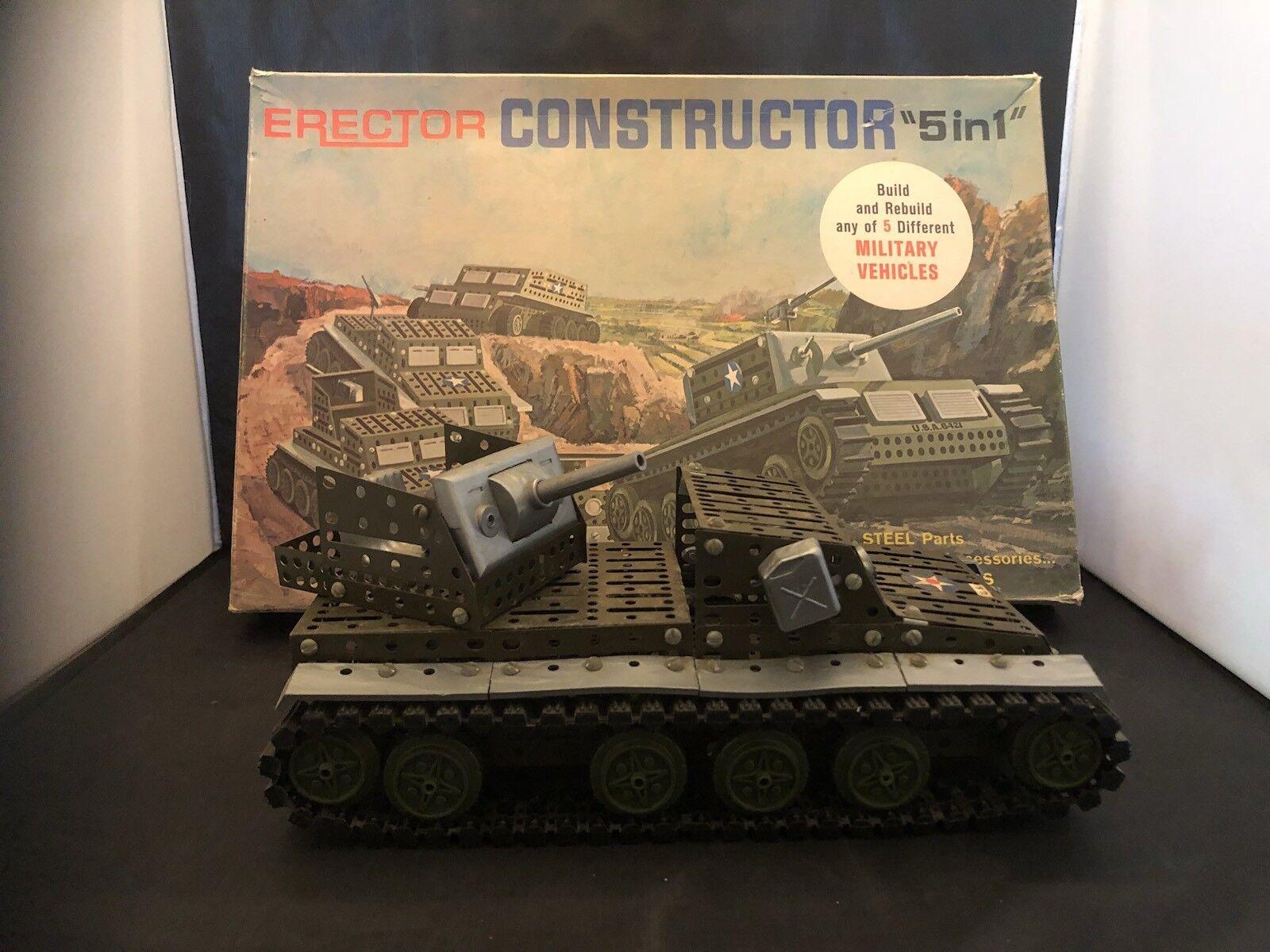 Erector constructor vehículos militares 5 en 1  10611
