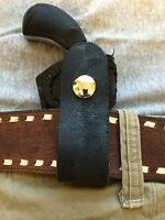 North American Arms Black Widow 22mag Derringer Croc Print Leather Holster