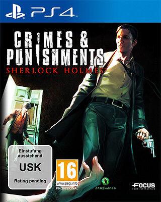 Sony PS4 Playstation 4 Spiel * Sherlock Holmes Crimes & Punishments *and*und*NEU