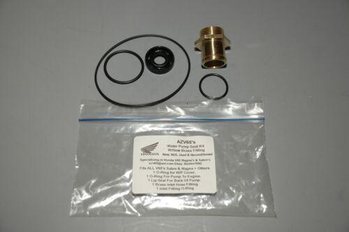 VF1100 W//NEW BRASS INLET FITTING Water Pump Seal Kit Honda V65 Magna /& Sabre