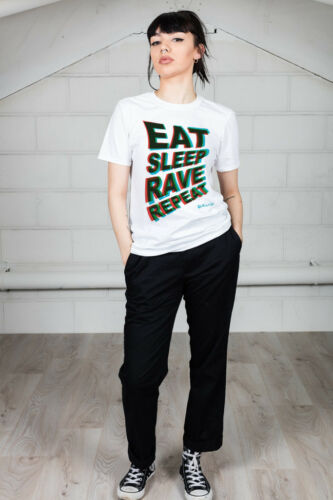 Official Fatboy Slim Eat Sleep Rave Repeat Unisex T-Shirt Licensed Merch