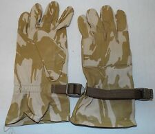 DESERT CAMO LEATHER WARM WEATER COMBAT GLOVES - Size: 11 , British Army Issue
