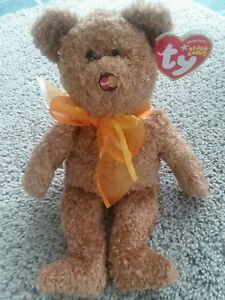 "Ty Beanie Babies ""M.C. Beanie V""  Exclusive Retired August 5th, 2005 Brown Bear"