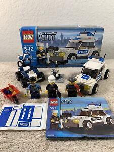 Lego City 2 Sets 7236 Police Car And 60006 Police Atv Ebay