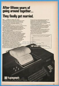 1969 Typagraph San Diego CA Digital X Y Plotter That Types Vintage Computer Ad