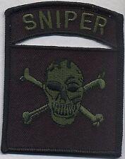 SWAT:   SNIPER (TOTENKOPF Schädel) (Scharfschütze) SEK Polizei Abzeichen Police