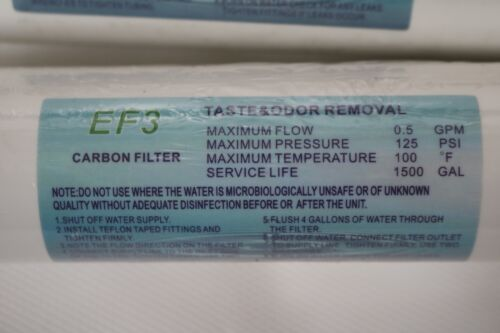 10x Pack Ecoloblue EF3 Post Carbon Filter Water from Air AWG Machine 0.5GPM