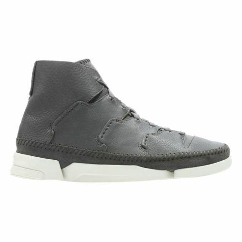 Clarks Original Para Hombre  Trigenic flujo gris Lea  botas al tobillo con cordones