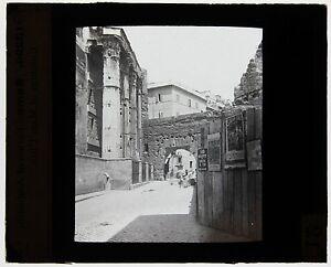 Italia-Roma-Targa-Di-Proiezione-Per-Lanterna-Magica-Vintage-Ca-1900