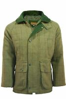 Men's Light Sage Derby Tweed Jacket Coat Shooting Hunting Fishing Countryside