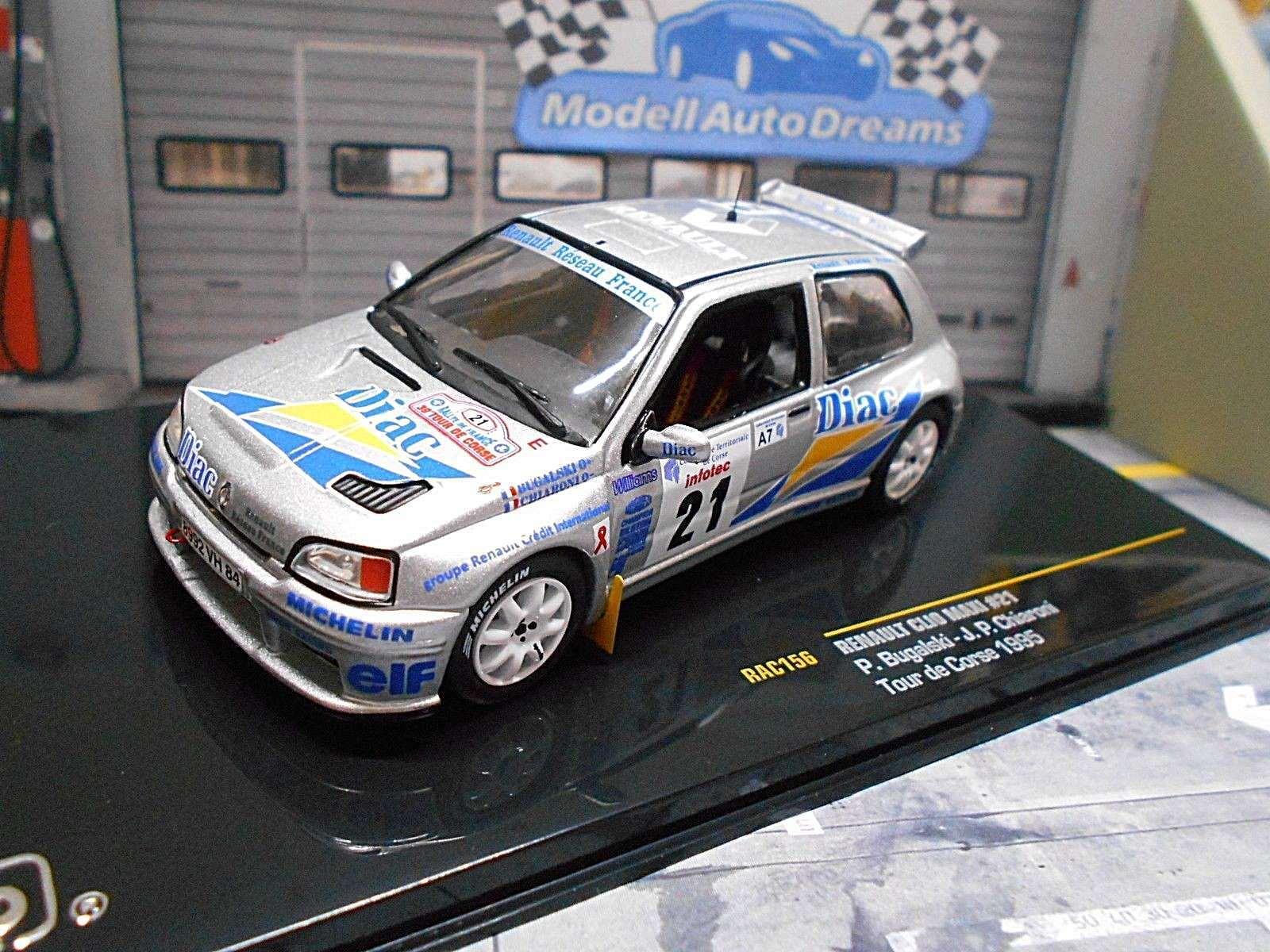 RENAULT CLIO MAXI RALLYE TOUR DE CORSE Kit 1995  21 Bugalski DIAC RAR Ixo 1 43