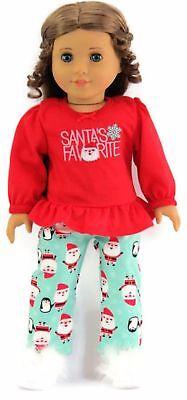 "Debs Christmas Santa Pajamas Pjs Doll Clothes For 18/"" American Girl Boy Logan"