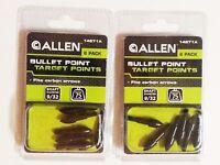 2 Pack Allen Bullet Point Target Points 9/32 75 Grains Carbon Arrows 14671a