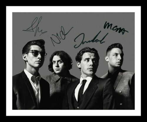 ARCTIC MONKEYS AUTOGRAPHED SIGNED /& FRAMED PP POSTER PHOTO 1