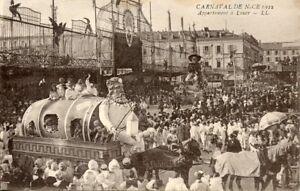 POSTCARD-CARTE-POSTALE-CARNAVAL-DE-NICE-1922-APPARTEMENT-A-LOUER