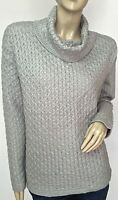 $44 Sonoma Authentic Women's Fashion Cowl Neck Gray Sweater Size Large