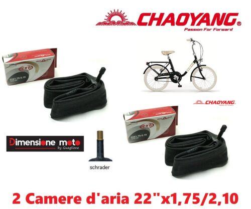 """2 Air Chamber 22x1,75//2,10 Schrader Valve for Bike Wheel 22/"""" graziella"""