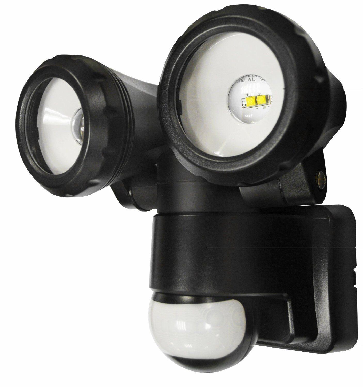 Doppio Sensore di movimento da esterno PIR Sicurezza LED luminoso CASA MURO DOPPIA LUCE SPOT