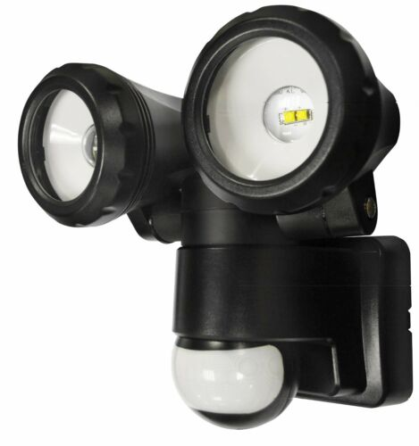 Double Outdoor Motion Sensor PIR Security Bright LED Home Wall Twin Spot Light