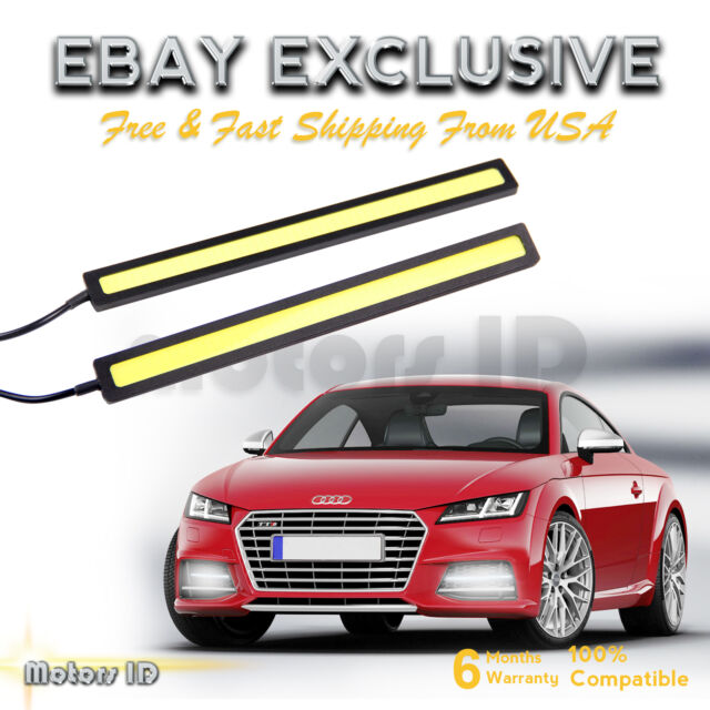 2x Super Bright COB White Car LED Lights 12V for DRL Daytime Running Lamp Bar