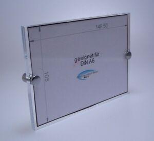 Büroschild,praxisschild,aus Acrylglas Für Din A6,2 Platten Inkl.chrombefestigung Aufsteller & Wechselrahmen Türschilder