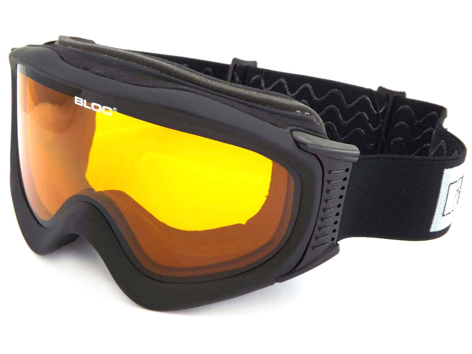 BLOC-ICE Occhiali Da Snowboard Sci Snowboard Da Opaco Nero con lente arancione cat.2 ice01 fa0b33