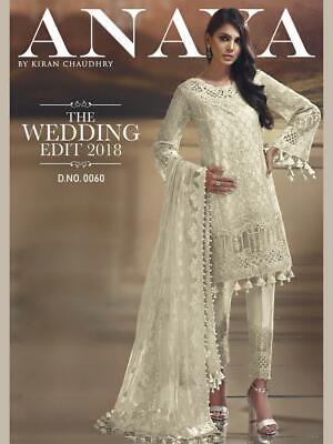 Indian Pakistani Ethnic Anarkali Salwar Kameez Designer Wedding party Suit Dress