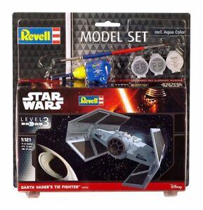 Star-Wars-Model-Kit-1-121-Model-Set-Darth-Vader-039-s-TIE-Fighter-7-cm