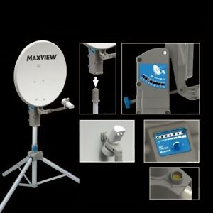 Camping-Maxview-Portable-Sat-Kit-Sat-Stativ-Satanlage-PRECISION-mit-Sat-ID-75-cm