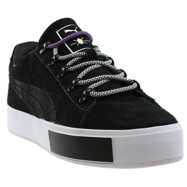 652c87261 PUMA X DP Daily Paper Men 11.5 45 Court Platform Black Suede Sneaker ...