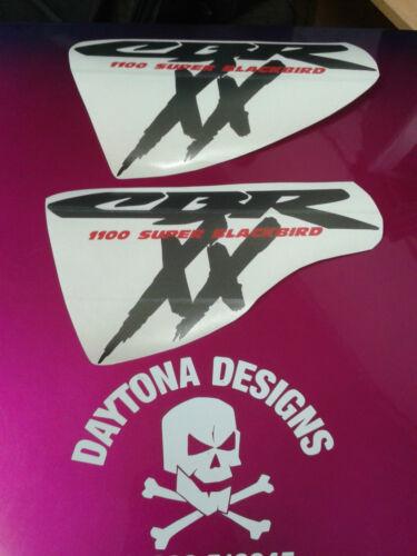 CBR XX 1100 SIDE FAIRING CUSTOM GRAPHITE /& RED STICKERS DECALS