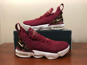 innovative design 5e1bb 345e6 Details about Nike LeBron 16 King James Team Red Leopard AQ2465-601 Sz 6Y  Women's 7.5