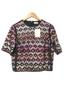 Designer-Dries-Van-Noten-Size-36-8-AU-Silk-amp-Sequin-Women-039-s-Top