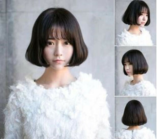 NEW Women Lady Costume Party Curl wavy Short Natural Fringe Full Hair Wigs C257