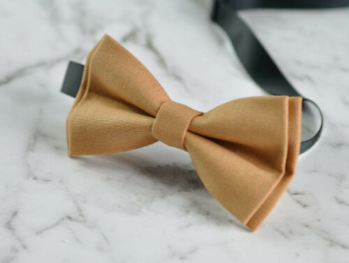 Boy Kids Baby 100/% Cotton Lion Camel Pale Brown Bow Tie Bowtie 1-6 Years Old