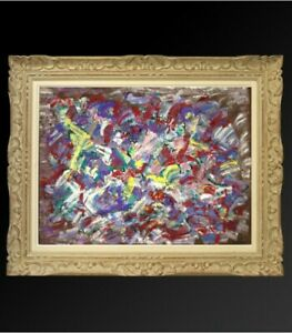 JACQUES-CHEVALIER-1924-1999-PEINTURE-034-ABSTRACTION-LYRIQUE-034-VERS-1960-3