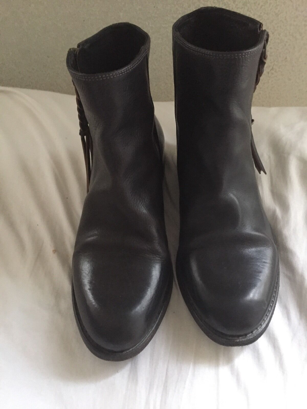 N.D.C. Made By Hand  Genna Mahogany Brown Leather Ankle Booties 36 US 6  $560