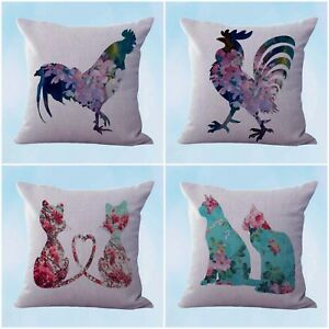 US-Seller-4pcs-cushion-covers-shabby-chic-cat-pet-pillows-and-throws-for-couche