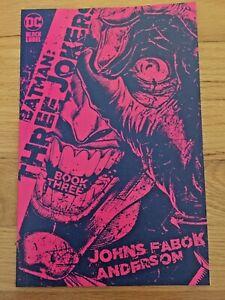 BATMAN THE THREE JOKERS #3 FABOK 1:25 VARIANT COVER DC COMICS 2020