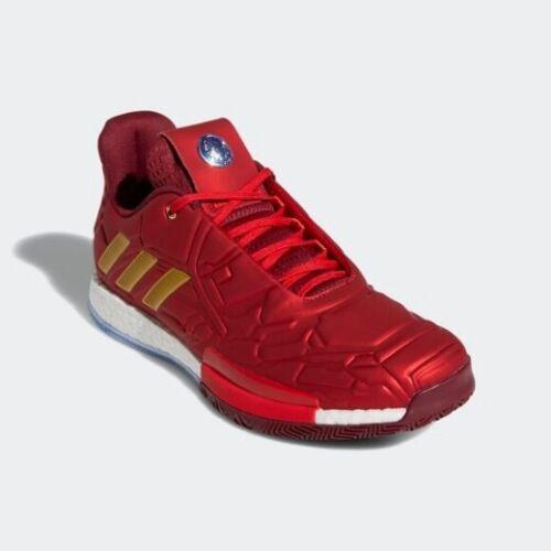 EF2524 Marvel Avengers x Adidas Harden 3 Basketball Shoes Sneakers Iron Man