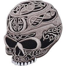 Skull Head Tattoo Biker Horror Goth Punk ,EMBROIDERED Iron/sew PATCH/Badge UK
