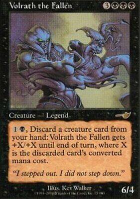 4 Volrath the Fallen = Black Nemesis Mtg Magic Rare 4x x4