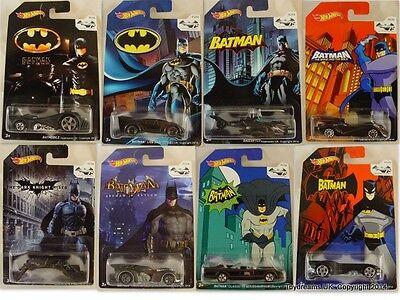 Hotwheels Raro Batman Cars Batmobiles Arkam animados Vaso 2015 que usted elija!