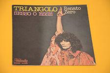 """7"""" 45 RENATO ZERO TRIANGOLO 1° ST ORIG ITALY EX SOLO COPERTINA ONLY COVER"""