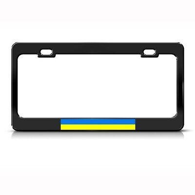 Ukraine Flag Ukrainian Metal License Plate Frame Tag